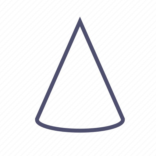 cone, figure, geometry, triangle icon