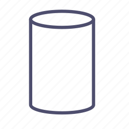 cylinder, figure, geometry, pillar icon