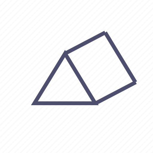 figure, geometry, prism, pyramid, tent, triangle icon