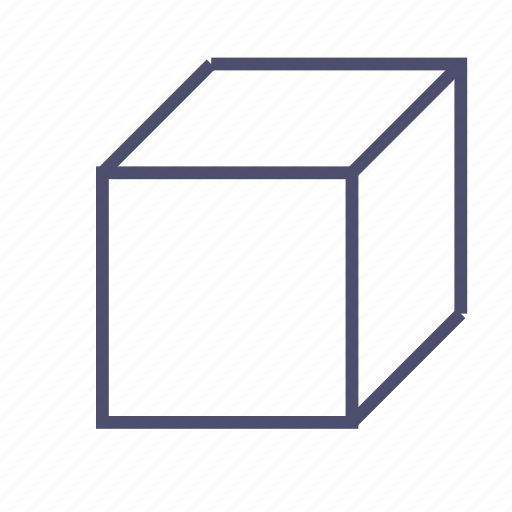 box, cube, figure, geometry, parallelepiped, rectangle, square icon
