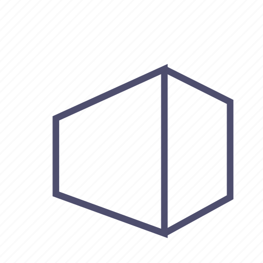angle, box, figure, geometry, polygon, prism, rectangle icon