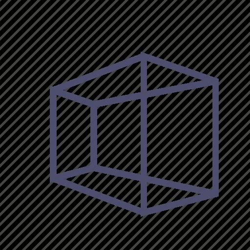 box, figure, geometry, polygon, prism, rectangle icon