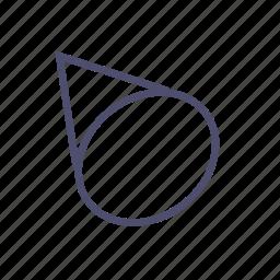 cone, figure, geometry icon
