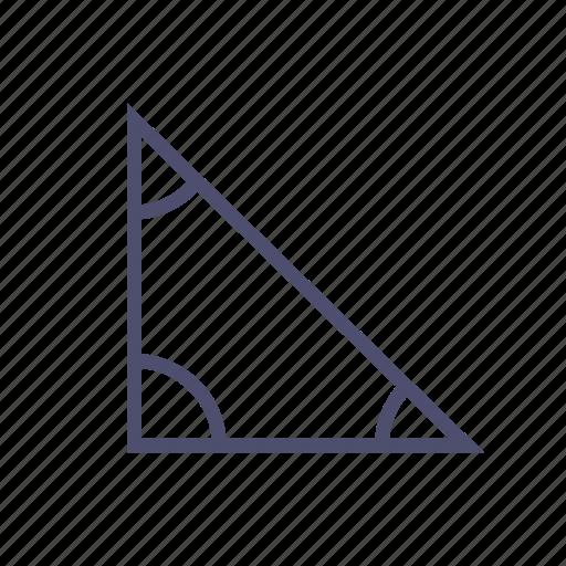 angle, figure, geometry, ruler, triangle icon