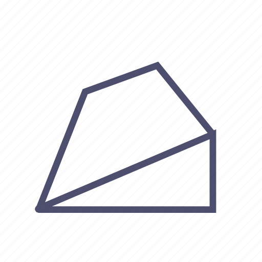figure, geometry, polygon, prism, pyramid, trapeze icon