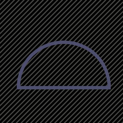 diagram, figure, geometry, protractor, semicircle icon