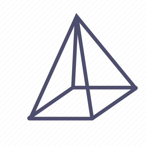figure, geometry, polygon, prism, pyramid icon