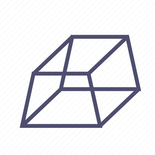figure, geometry, parallelepiped, polygon, prism, pyramid, trapeze icon