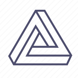 figure, geometry, recycled, triangle icon