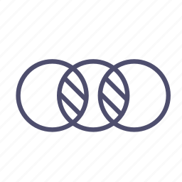 circle, diagram, figure, geometry icon