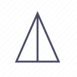 figure, geometry, polygon, triangle icon