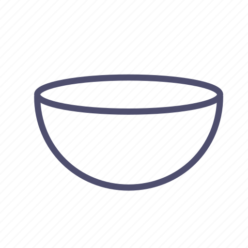 bowl, figure, geometry, semicircle icon