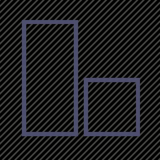 diagram, figure, geometry, rectangle, square icon