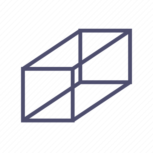 box, figure, geometry, parallelepiped, prism icon
