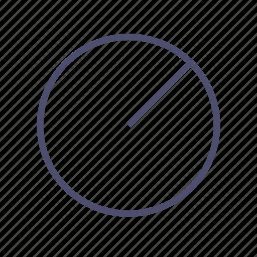 circle, figure, geometry, radius icon