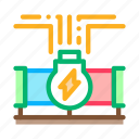 linear, energy, geothermal, pipe, equipment, heat, lined icon