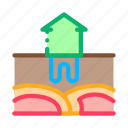energy, geothermal, factory, heat, house, heating, electricity icon