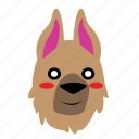animal, blush, cute, dog, emoji, graphic, sticker icon