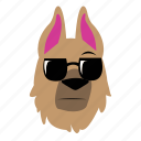 animal, cool, cute, dog, emoji, graphic, sticker icon