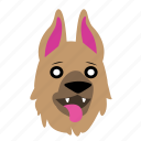 animal, cute, dog, emoji, graphic, happy, sticker icon