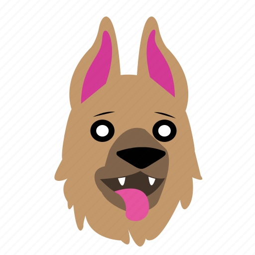 animal, cute, dog, emoji, graphic, happy, sticker icon
