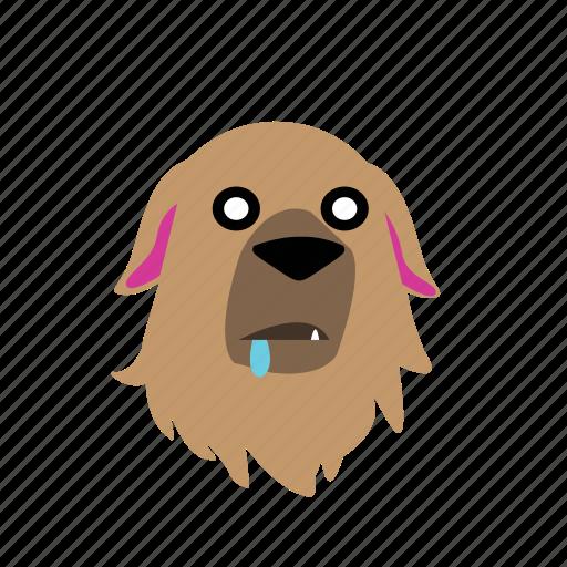 animal, dog, emoji, graphic, hungry, sticker icon