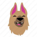 animal, cute, dog, emoji, graphic, laugh, sticker icon