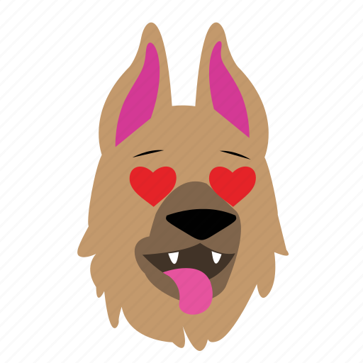 'German Shepherd Dog Face' by Danyell Mitchell
