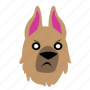 dog, emoji, graphic, mad, sticker icon