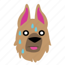 animal, crap, dog, emoji, graphic, oh, sticker icon
