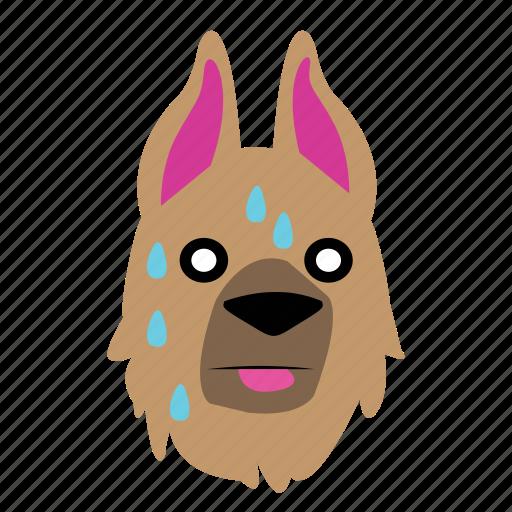 animal, crap, dog, emoji, graphic, oh, sticker icon