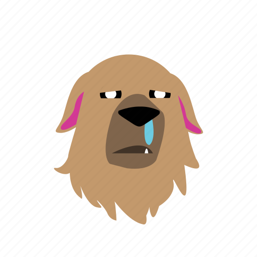 dog, emoji, graphic, sick, sticker icon