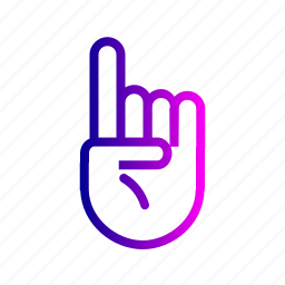 finger, first, hand, left, pointer, pointning, up icon