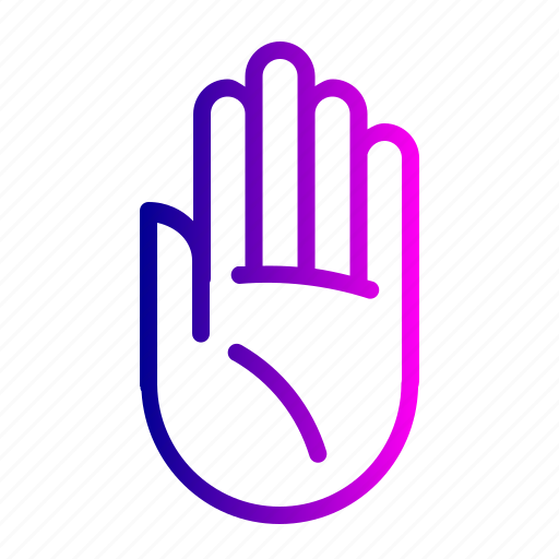 finger, fingers, gesture, hand, left, palm, stop icon