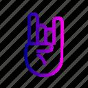 fingers, hand, rock, rocking, sign