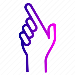direction, fingers, hand, pointning, right, show, up icon