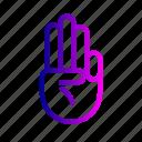 fingers, gesture, hand, three