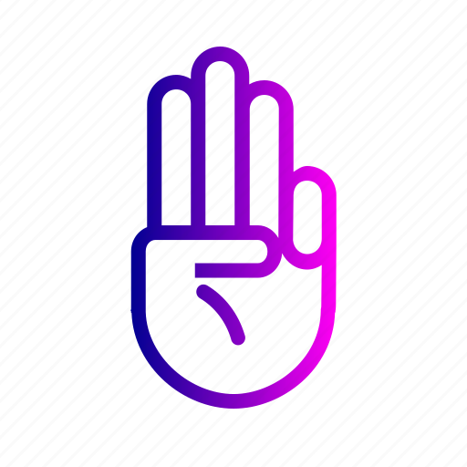 Fingers, gesture, hand, three icon - Download on Iconfinder