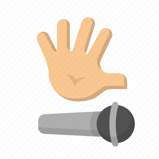 drop, emoji, finished, freestyle, gesture, hand, mic icon