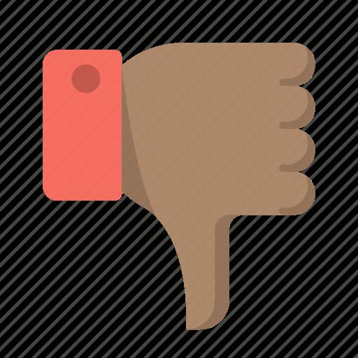 bad, deny, disapprove, dislike, down, no, thumbs icon