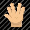 geek, gesture, hand, nerd, salute, startrek, vulcan icon