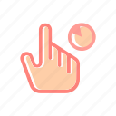 click, finger, gesture, hand, pad, touch, touchscreen icon