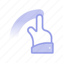 click, cursor, finger, gesture, hand, swipe, touch icon