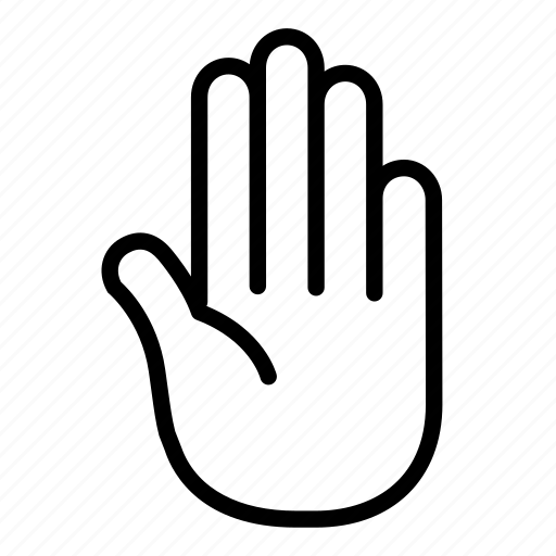 finger, hand, stop, thumb, touch icon