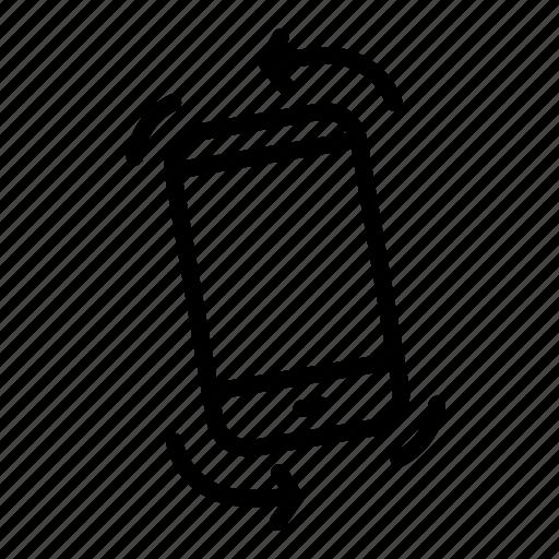 arrow, mobile, phone, rotate, shake, shakering icon