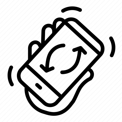 refresh smartphone, reload, renew, shake, shakerotate, sync icon
