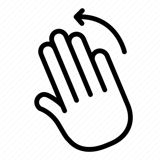 gesture, hand, left, mark, scroll, swipe, turn icon