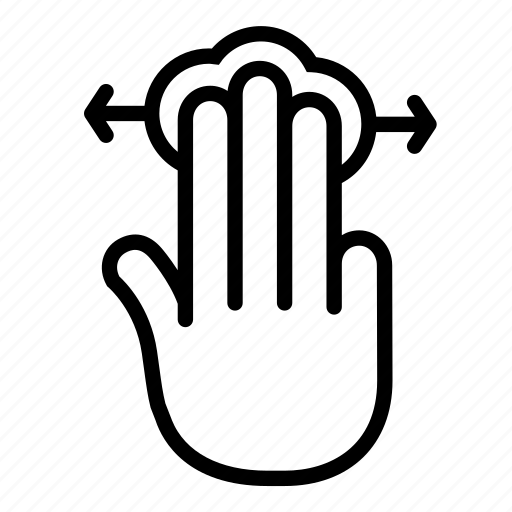 gesture, horizontal scroll, left, or, right, swipe, touchpad icon