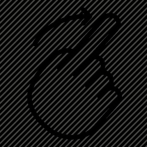 gesture, hand, mark, right, scroll, swipe, turn icon