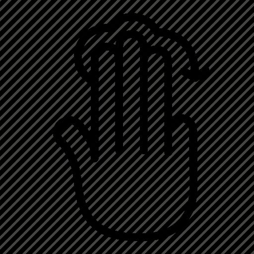 arrow, finger, gesture, mark, rotate, slide, three icon